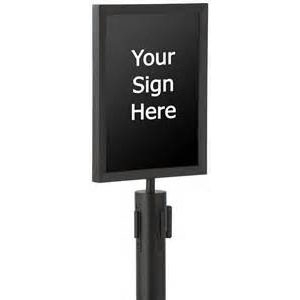Black Frame for Stanchion Sign 1