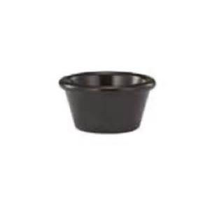 2oz Black Ramekin Smooth