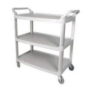 Winco Gray Utility Cart 3 Tier