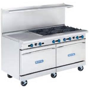 "Royal Range 6 Burner 24"" Gridd"