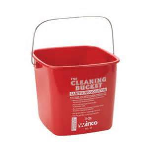 6qt Red Cleaning Bucket
