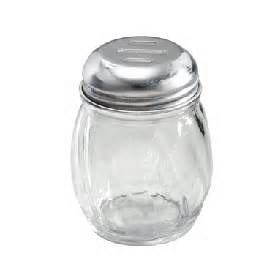 6oz Glass Shaker SLOTTED TOP