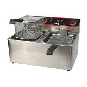 Winco Double Countertop Fryer