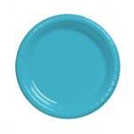 "Bermuda Blue 7"" Plastic Plate"