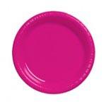 """Hot Magenta 7"""" Plastic Plate"""