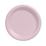 "Classic Pink 7"" Plastic Plate"