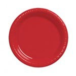 """Classic Red 7"""" Plastic Plate"""