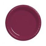 "Burgundy 7"" Plastic Plate 20ct"