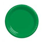 "Emerald Green 7"" Plastic Plate"