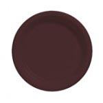 "Chocolate 7"" Plastic Plate"