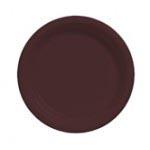 "Chocolate 10.25"" Plastic Plate"