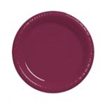 "Burgundy 10.25"" Plastic Plate"