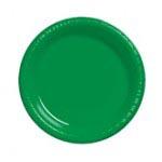 "Green 10.25"" Plastic Plate"