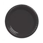 """Black Vel 10.25"""" Plastic Plate"""