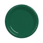 "Hunter Green 10"" Plastic Plate"