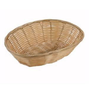 9x6x2 Oval Wicker Basket 12ct