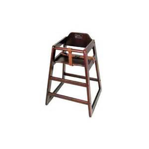 Wooden High Chair Mahogany