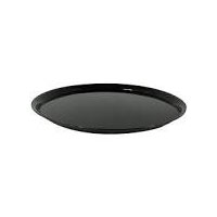 """12"""" Black Plastic Tray each"" 1"