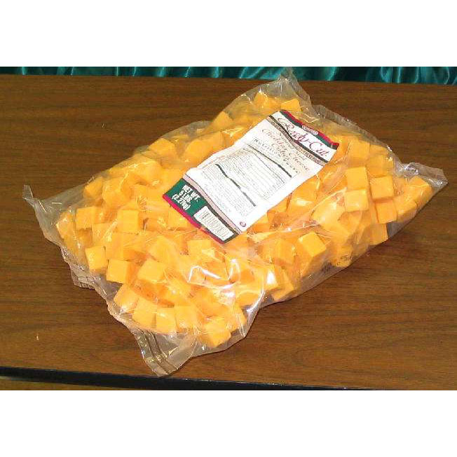 Cheddar cheese cubes 5#